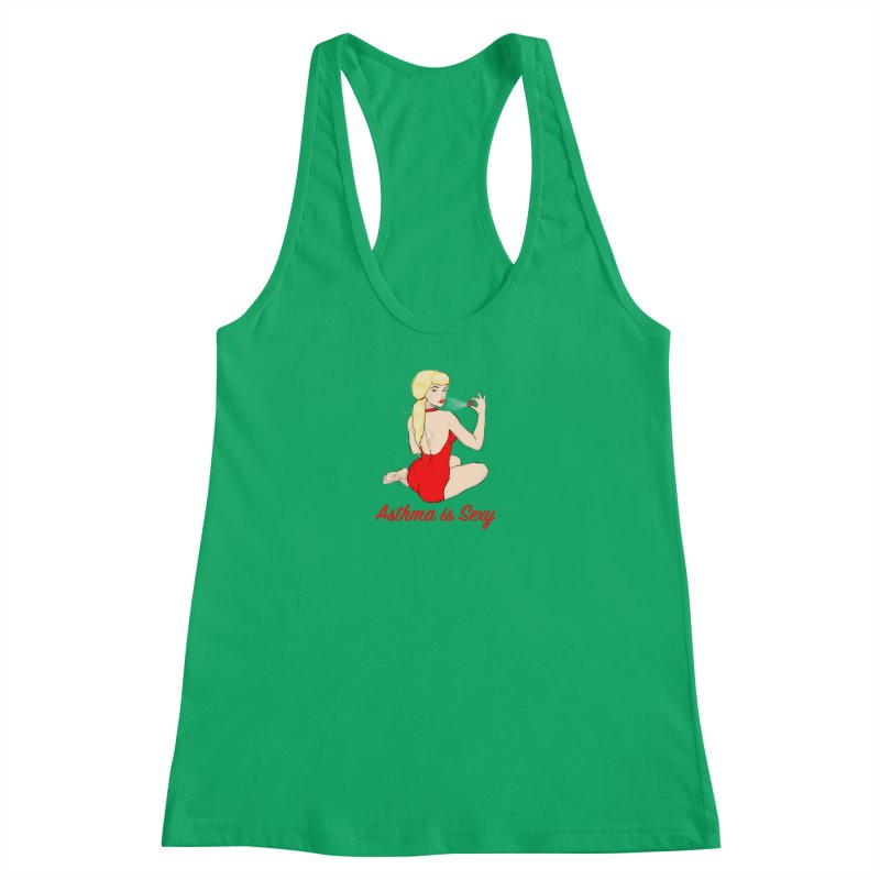 Asthma is Sexy Women's Racerback Tank by Kristy and Luke's Shop of Mostly Horrible Things