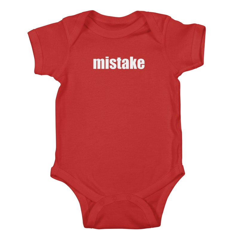 Mistake in Kids Baby Bodysuit Red by Kristy and Luke's Shop of Mostly Horrible Things