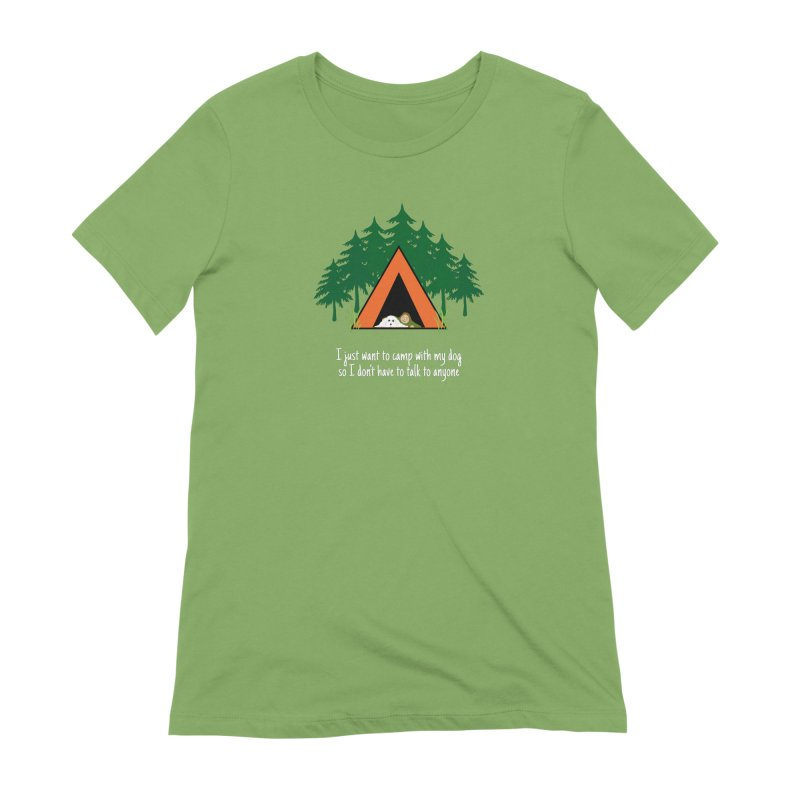 Camping w/ Dogs - Ladies Version Women's Extra Soft T-Shirt by Kristy and Luke's Shop of Mostly Horrible Things
