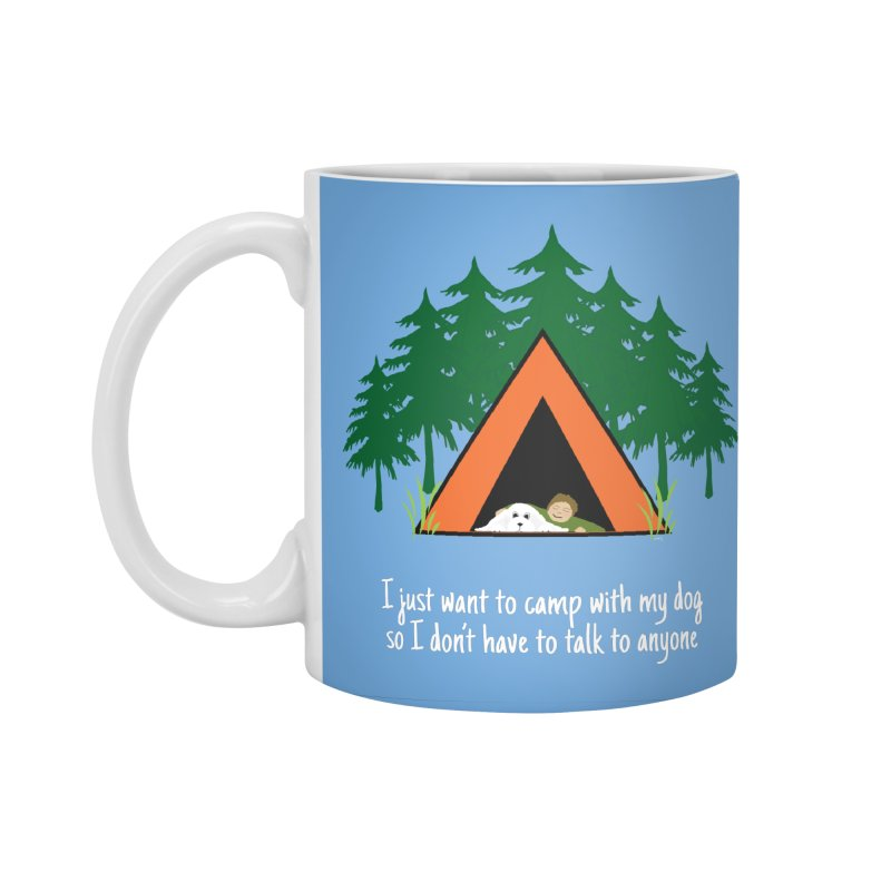 Camping w/ Dogs – Guys Version Accessories Standard Mug by Kristy and Luke's Shop of Mostly Horrible Things