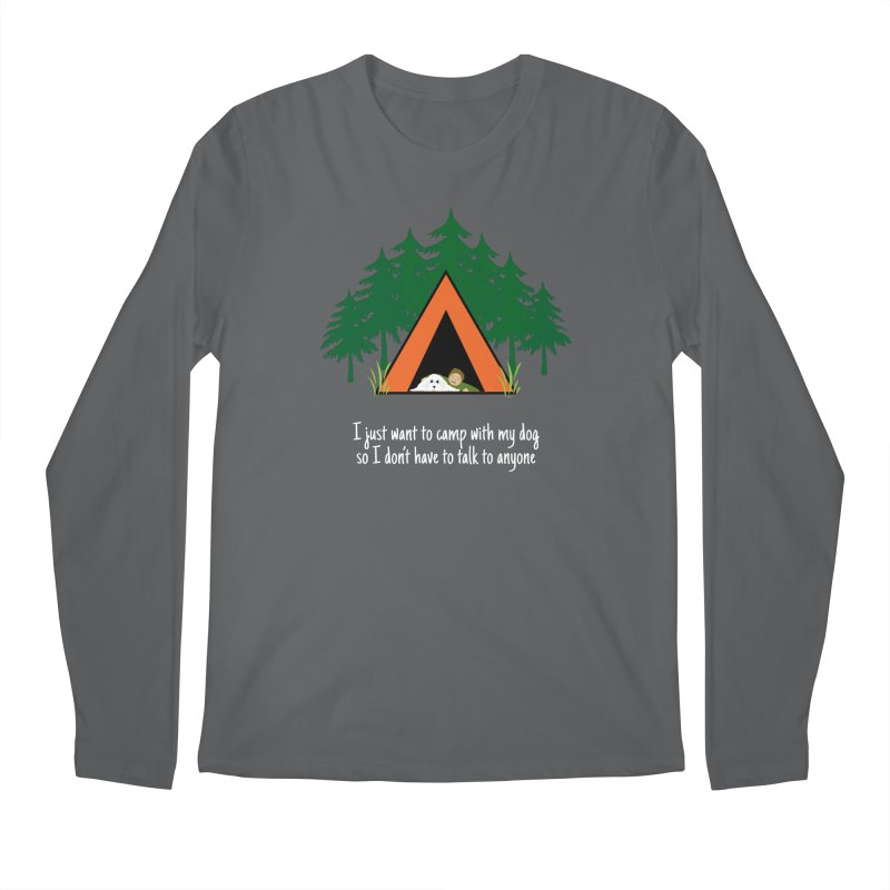 Camping w/ Dogs – Guys Version Men's Longsleeve T-Shirt by Kristy and Luke's Shop of Mostly Horrible Things