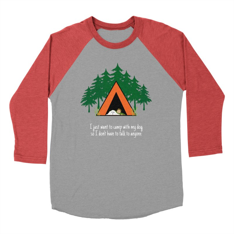 Camping w/ Dogs – Guys Version Men's Baseball Triblend Longsleeve T-Shirt by Kristy and Luke's Shop of Mostly Horrible Things