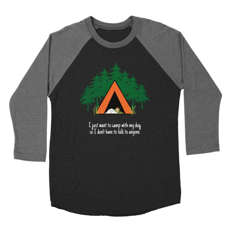 Camping w/ Dogs – Guys Version Men's Baseball Triblend T-Shirt by Kristy and Luke's Shop of Mostly Horrible Things