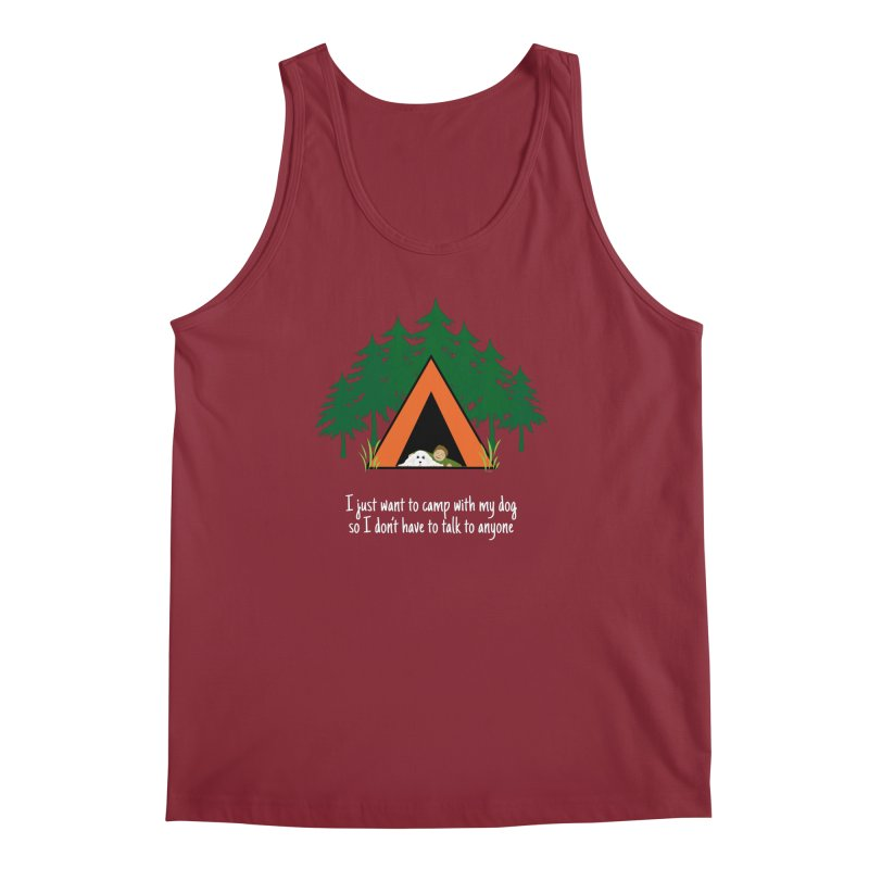 Camping w/ Dogs – Guys Version Men's Regular Tank by Kristy and Luke's Shop of Mostly Horrible Things