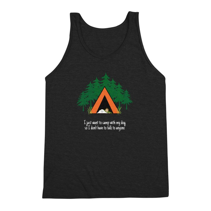 Camping w/ Dogs – Guys Version Men's Triblend Tank by Kristy and Luke's Shop of Mostly Horrible Things