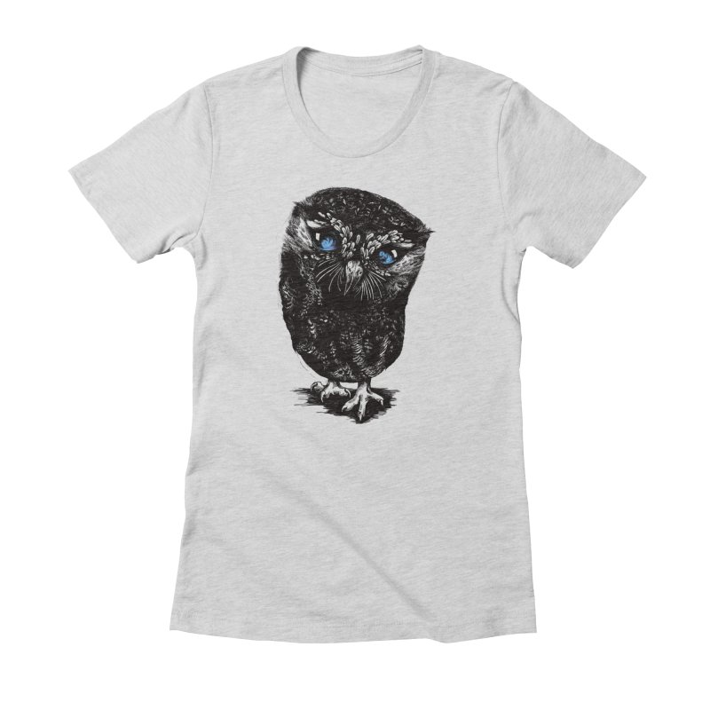 Zeus Women's Fitted T-Shirt by Kristy Boisvert