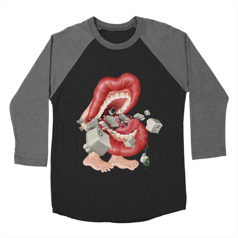 Mega bite A.K.A. Damn Men's Baseball Triblend T-Shirt by KrizanDS