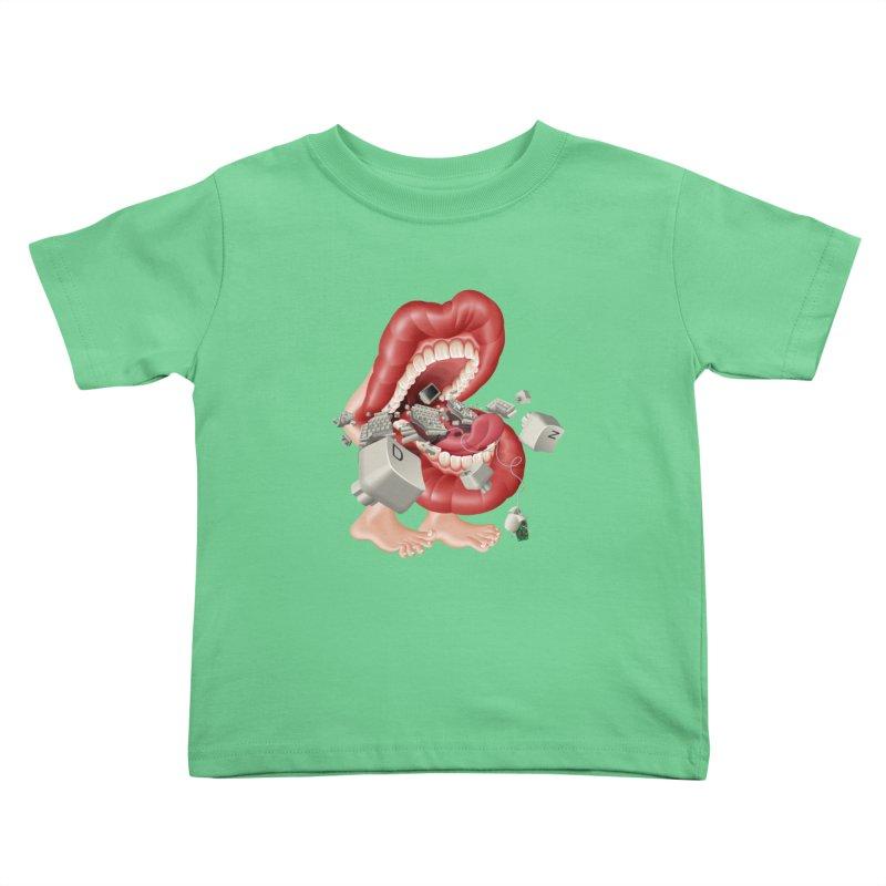 Mega bite A.K.A. Damn Kids Toddler T-Shirt by KrizanDS