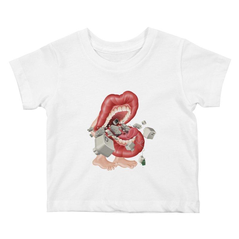 Mega bite A.K.A. Damn Kids Baby T-Shirt by KrizanDS