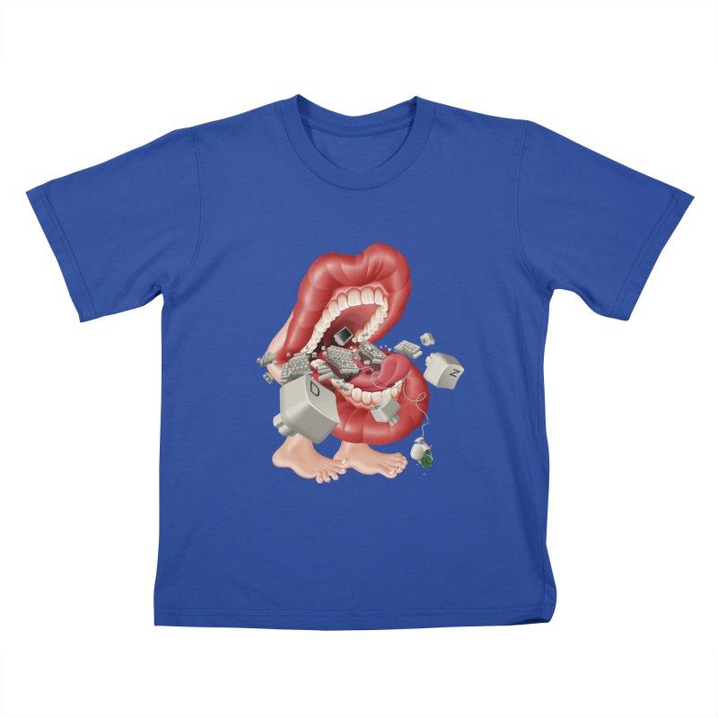 Mega bite A.K.A. Damn Kids T-shirt by KrizanDS