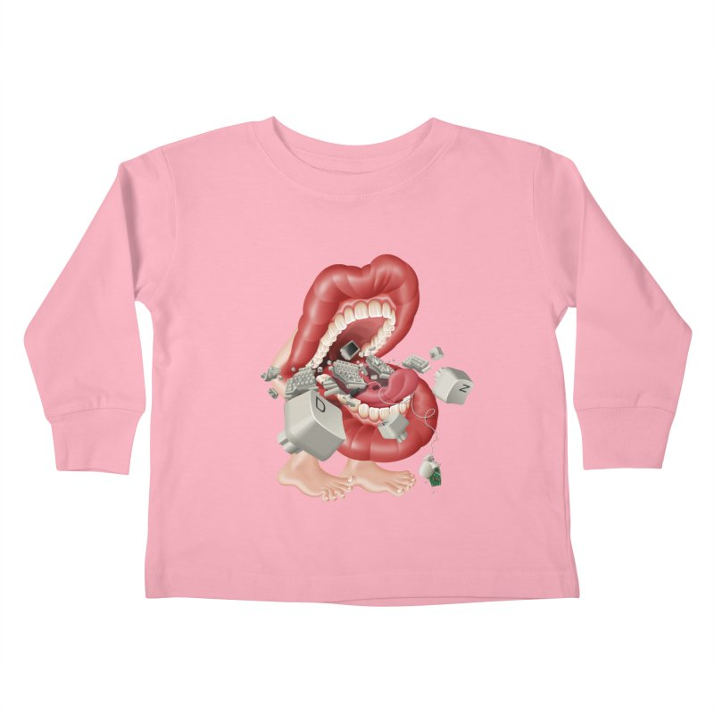Mega bite A.K.A. Damn Kids Toddler Longsleeve T-Shirt by KrizanDS