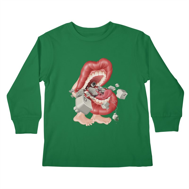Mega bite A.K.A. Damn Kids Longsleeve T-Shirt by KrizanDS