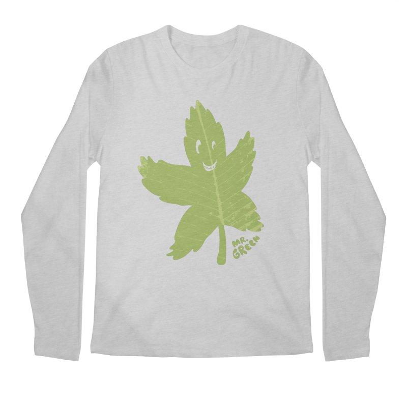 Mr. Green Men's Longsleeve T-Shirt by KrizanDS