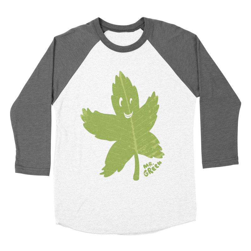 Mr. Green Women's Baseball Triblend T-Shirt by KrizanDS