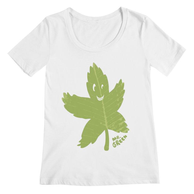 Mr. Green Women's Scoopneck by KrizanDS