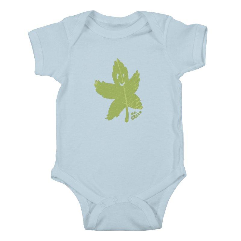 Mr. Green Kids Baby Bodysuit by KrizanDS