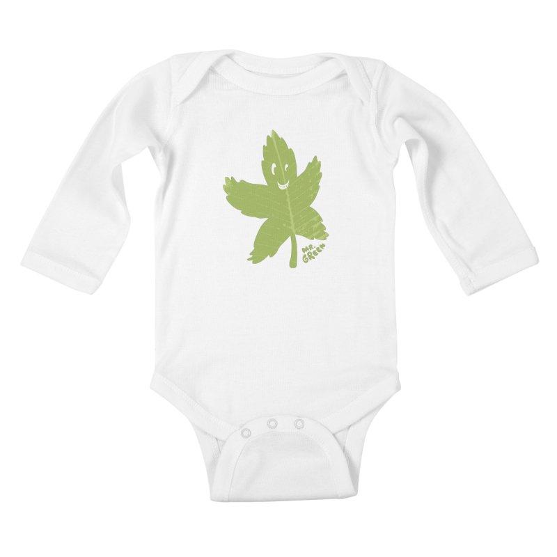 Mr. Green Kids Baby Longsleeve Bodysuit by KrizanDS