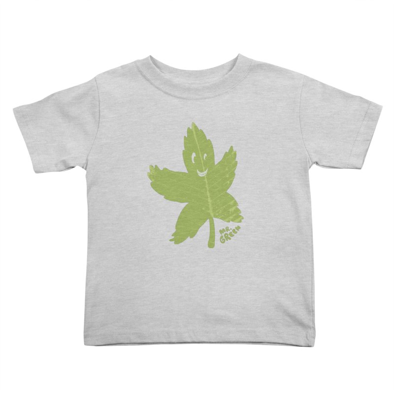 Mr. Green Kids Toddler T-Shirt by KrizanDS