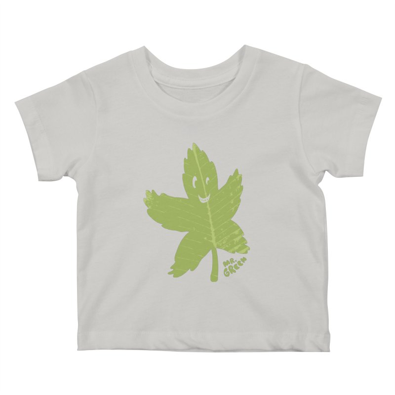 Mr. Green Kids Baby T-Shirt by KrizanDS
