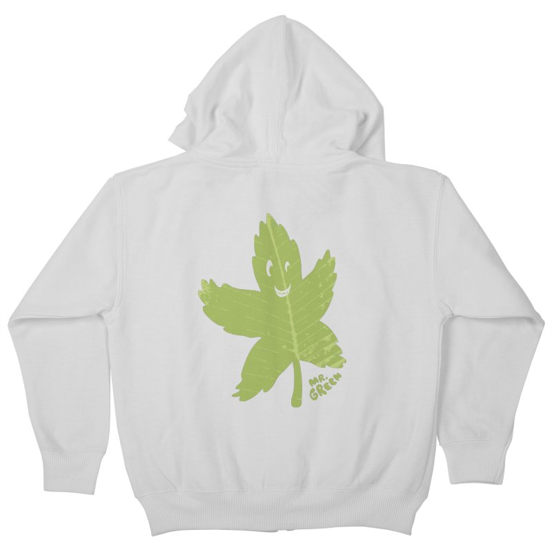 Mr. Green Kids Zip-Up Hoody by KrizanDS