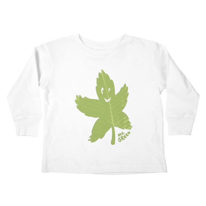 Mr. Green Kids Toddler Longsleeve T-Shirt by KrizanDS