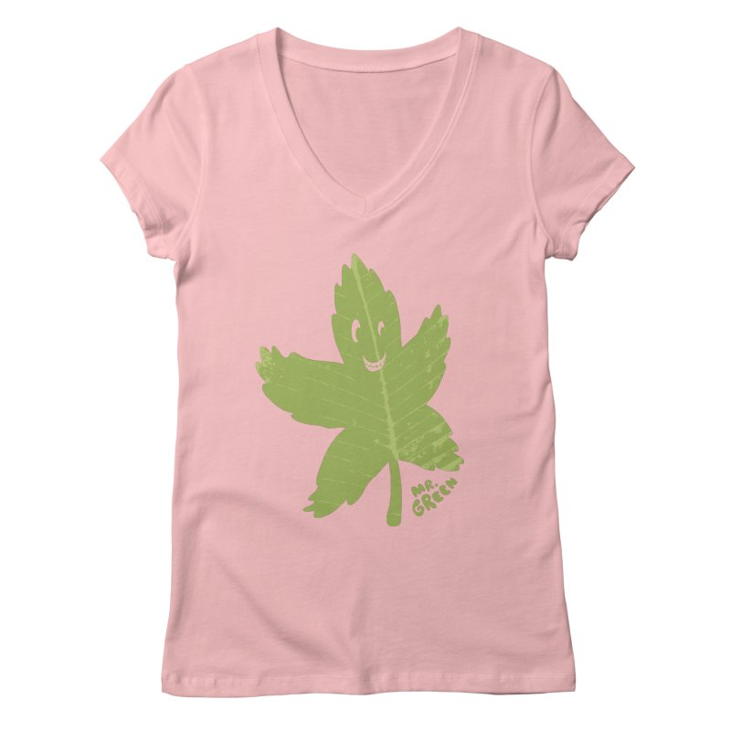 Mr. Green Women's V-Neck by KrizanDS