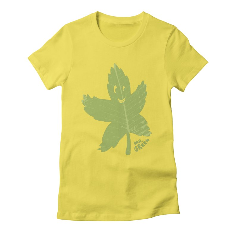 Mr. Green Women's Fitted T-Shirt by KrizanDS