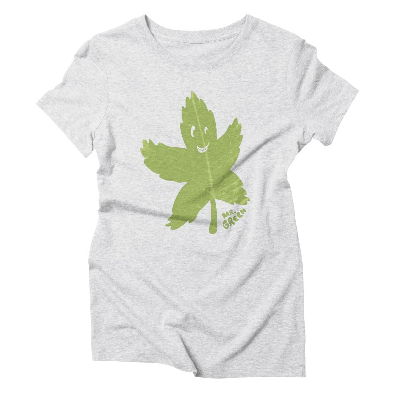 Mr. Green Women's Triblend T-Shirt by KrizanDS