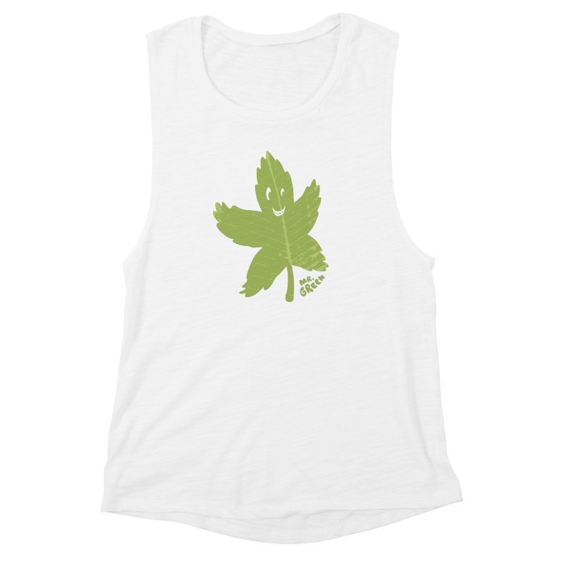 Mr. Green Women's Muscle Tank by KrizanDS