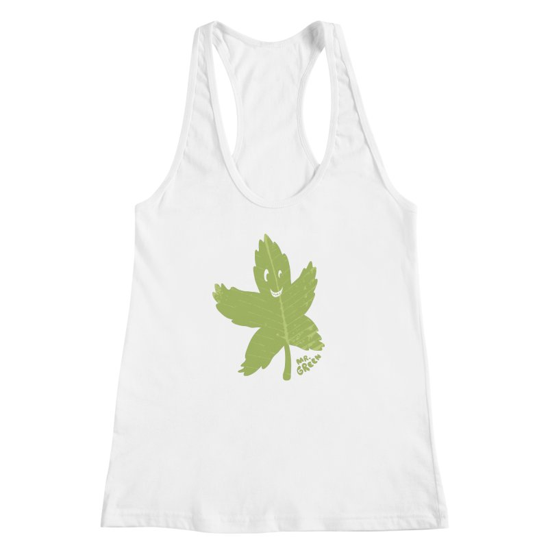 Mr. Green Women's Racerback Tank by KrizanDS