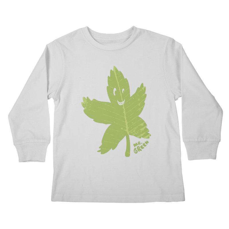 Mr. Green Kids Longsleeve T-Shirt by KrizanDS