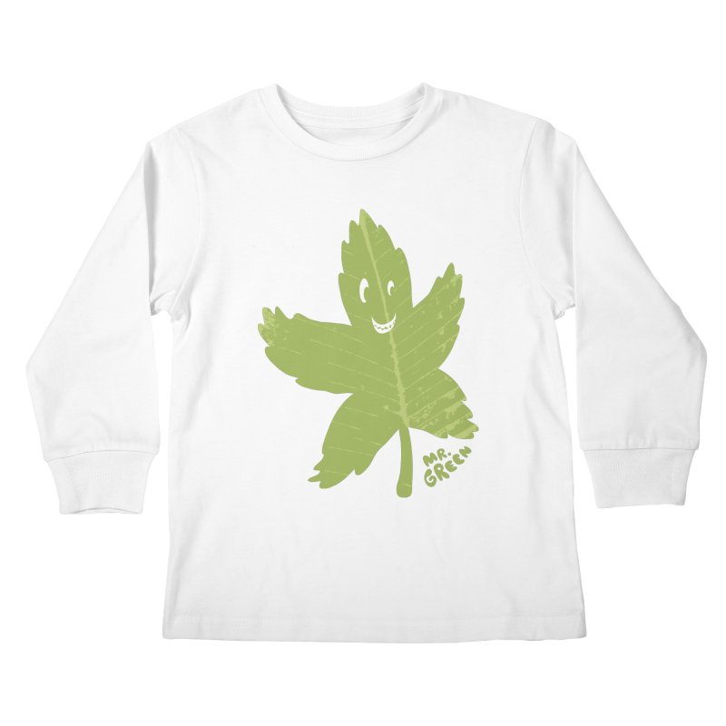 Mr. Green Kids Longsleeve T-Shirt by KrizanDS