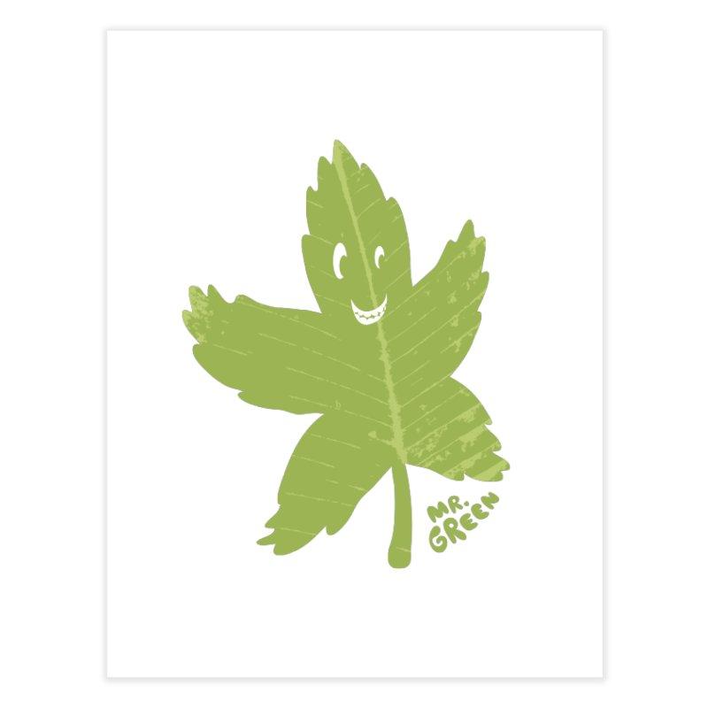 Mr. Green Home Fine Art Print by KrizanDS