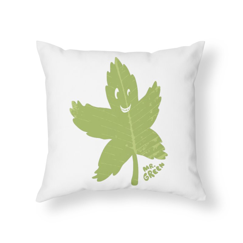 Mr. Green Home Throw Pillow by KrizanDS