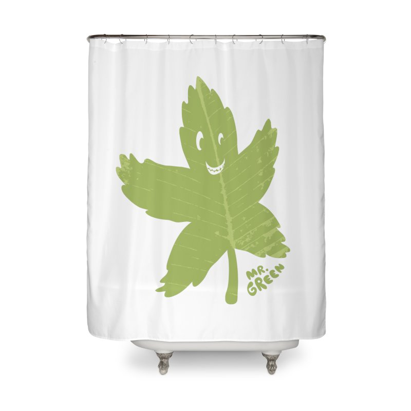 Mr. Green Home Shower Curtain by KrizanDS