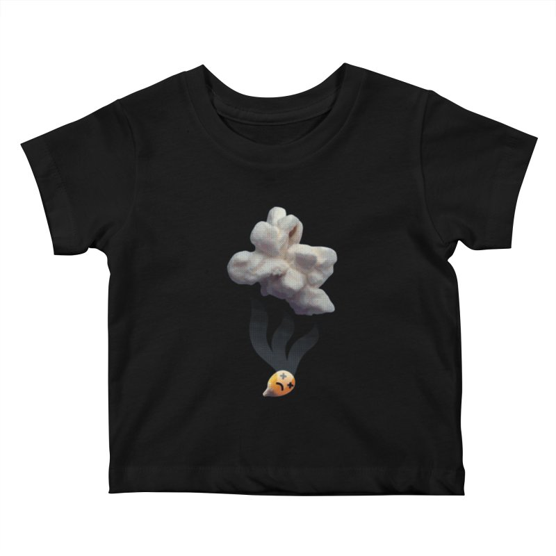 Popped Corn Kids Baby T-Shirt by KrizanDS