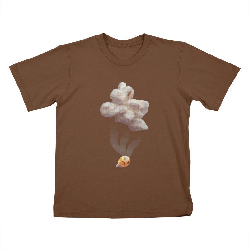 Popped Corn Kids T-Shirt by KrizanDS