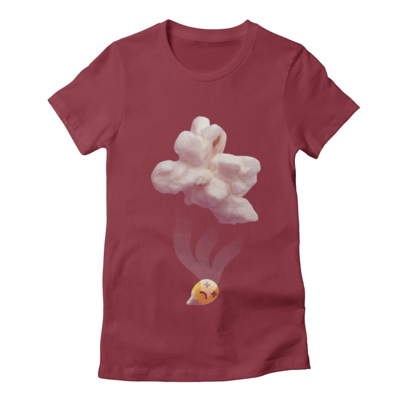 Popped Corn Women's Fitted T-Shirt by KrizanDS