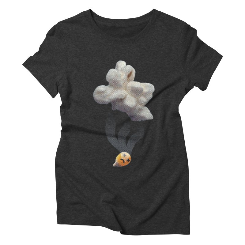 Popped Corn Women's Triblend T-shirt by KrizanDS