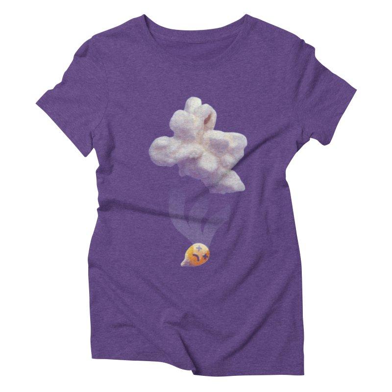 Popped Corn Women's Triblend T-Shirt by KrizanDS