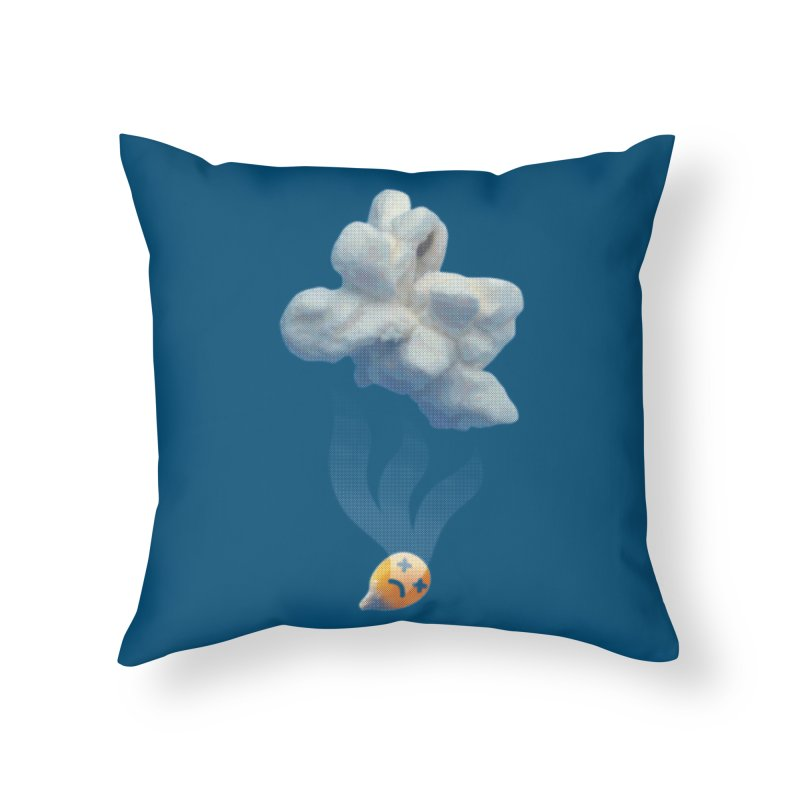 Popped Corn Home Throw Pillow by KrizanDS