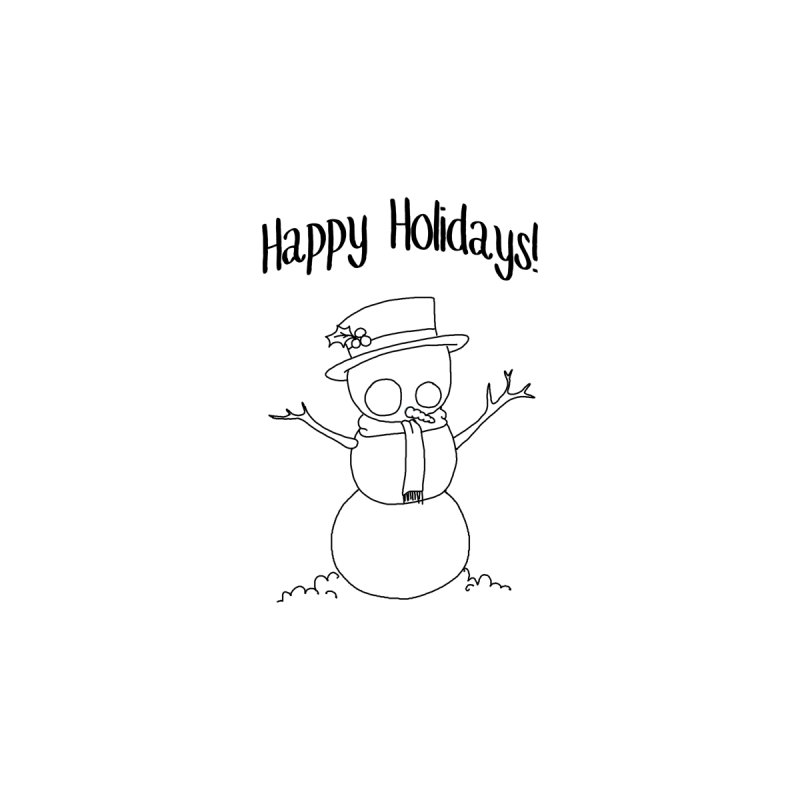 Happy Holidays Snowman by Krystlesaurus's Artist Shop