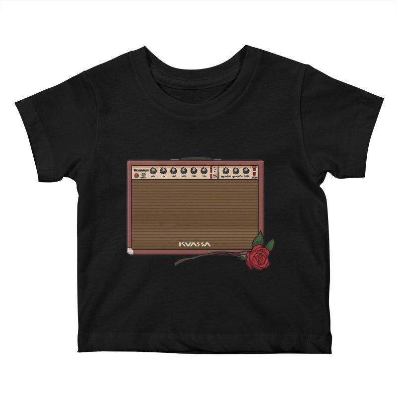 Vermilion Flower Kids Baby T-Shirt by Kuassa Shop