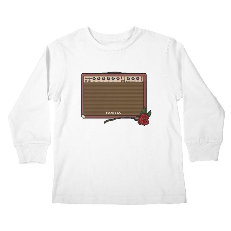 Vermilion Flower Kids Longsleeve T-Shirt by Kuassa Shop