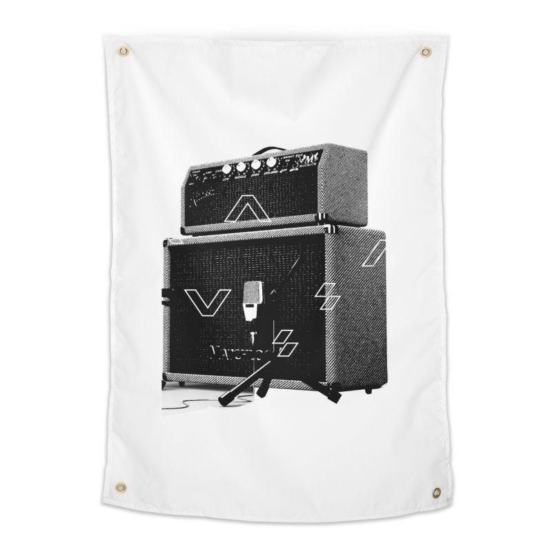 Monochrome Matchlock Home Tapestry by Kuassa Shop