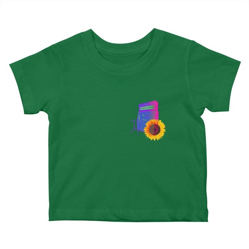 Sunflower Caliburn Kids Baby T-Shirt by Kuassa Shop