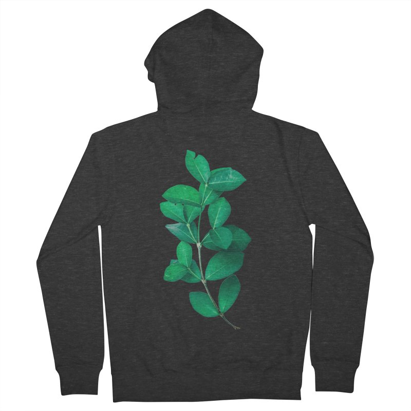 Green Leaves Women's Zip-Up Hoody by KUI1981