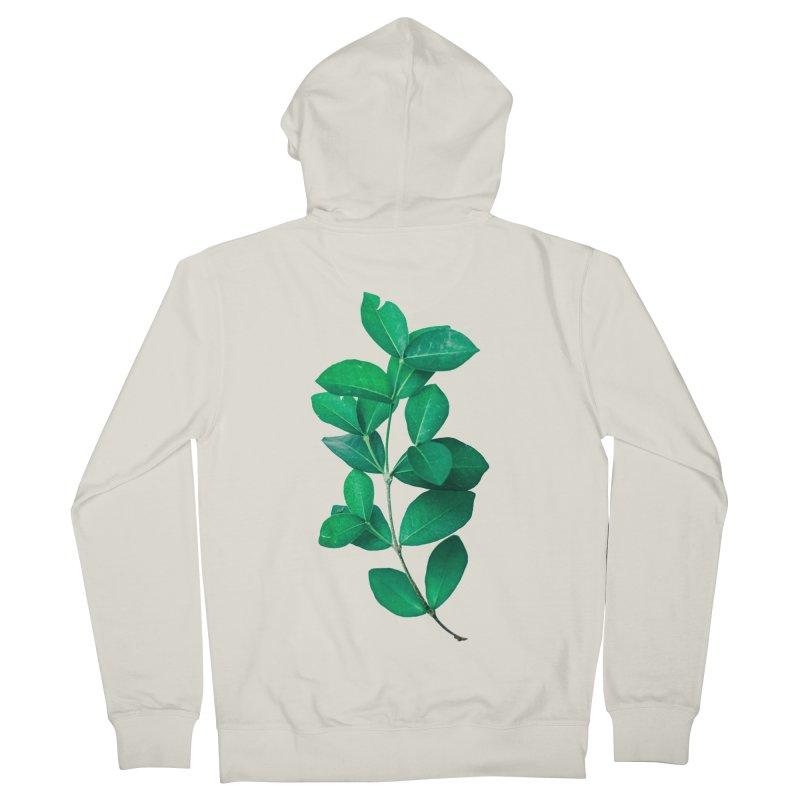 Green Leaves Women's Zip-Up Hoody by KUI1981