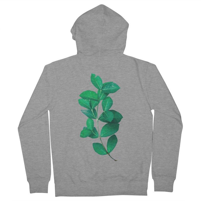 Green Leaves Men's Zip-Up Hoody by KUI1981