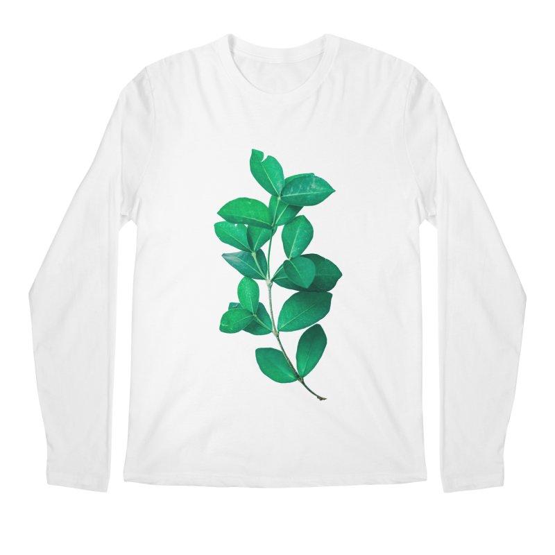 Green Leaves Men's Longsleeve T-Shirt by KUI1981